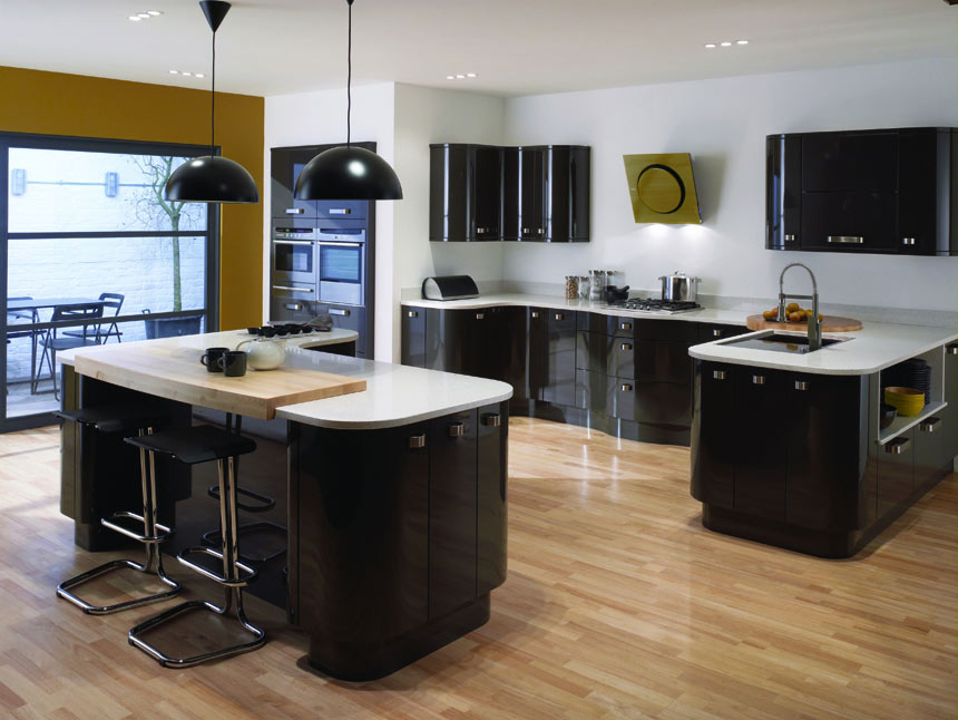 Http Kitchendesigncentre Co Uk Portfolio View Curved Black Kitchen