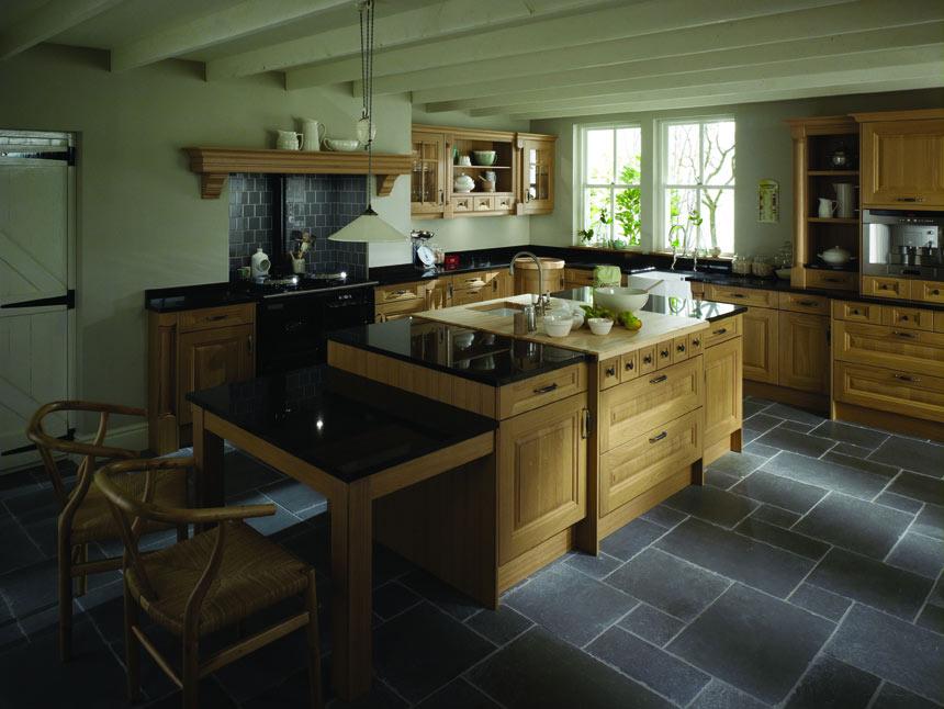 Oak & Black Granite